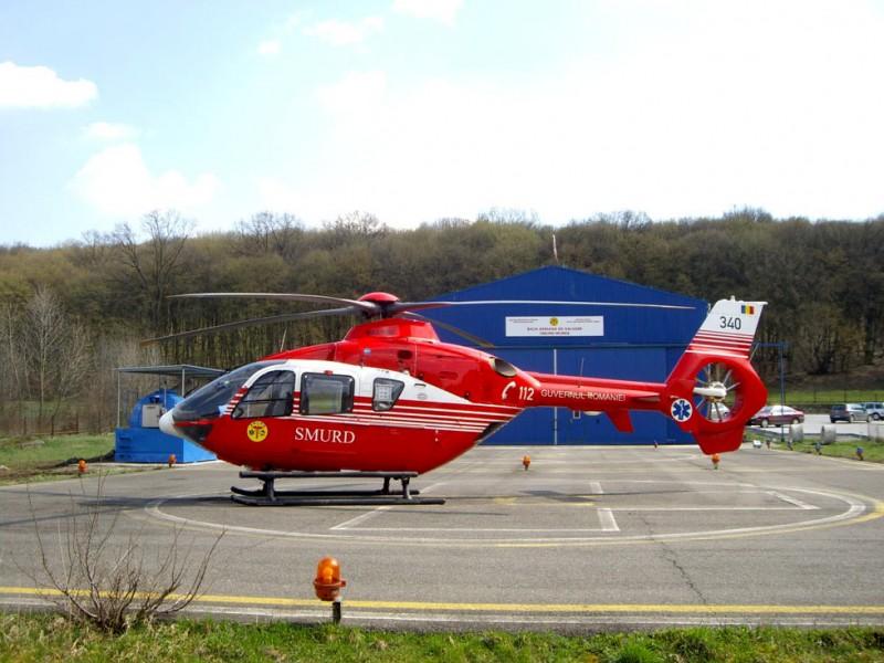 ACUM: Bărbat preluat de elicopter, în urma unui traumatism cervical