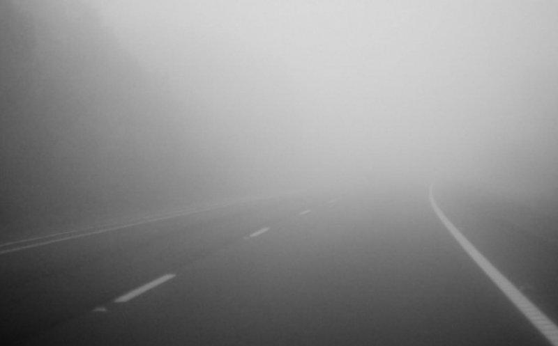ACUM: Cod galben de ceață, în zeci de localități din județ