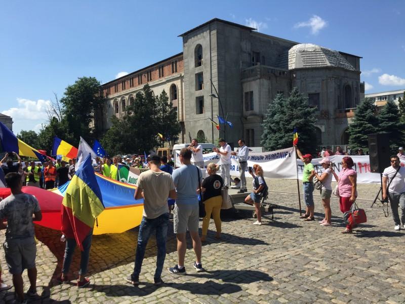 Protest la Botoșani pentru infrastructură FOTO, VIDEO