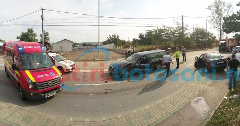 Adjunctul Poliţiei Botoşani, rănit într-un accident rutier! FOTO- VIDEO