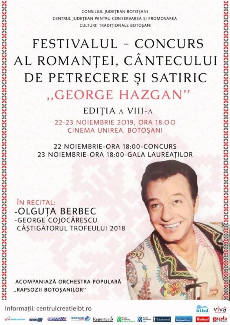 Al optulea an de Festival dedicat lui George Hazgan, la Botoșani