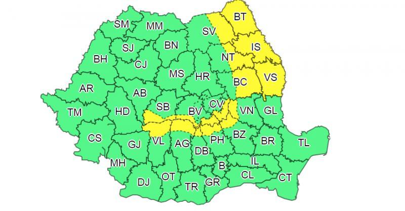 ALERTĂ METEO: Vânt, ninsori și polei în nordul Moldovei!