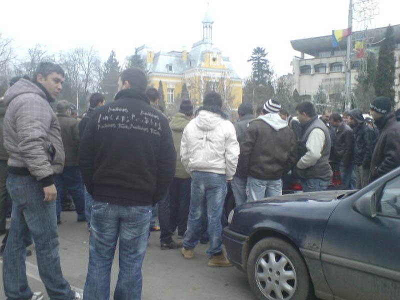 ALERTA - Protest in centrul orasului din cauza taxei auto! - completare foto