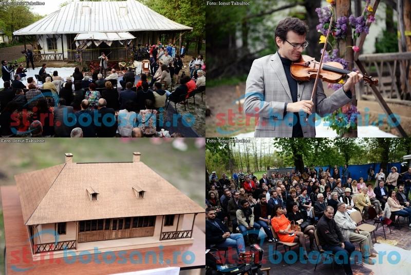 """ALEXANDRU TOMESCU, la Mihăileni: """"Este o mare bucurie pentru mine să pot pune în slujba unei asemenea case patrimoniul cultural al României, şi anume vioara Stradivarius"""" - FOTO, VIDEO"""