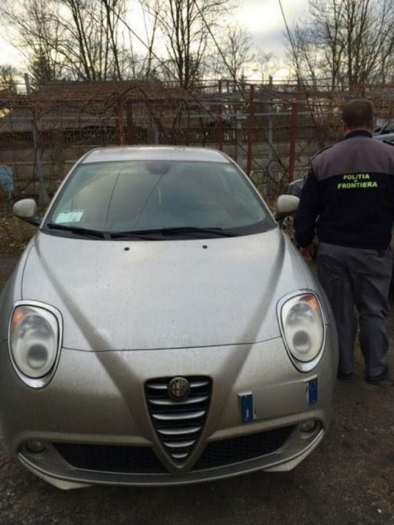 Alfa Romeo declarat furat în Italia, depistat în aceeaşi zi la Vama Rădăuţi Prut!