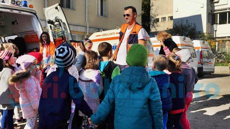 Serviciul Județean de Ambulanță, vizitat de zeci de copii- FOTO