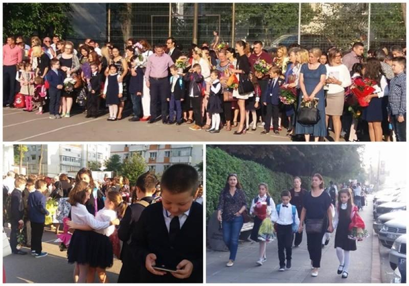BOTOȘANI: Elevii s-au întors la școală. Emoții, discursuri și veselie la oraș, școli neautorizate în mediul rural! FOTO