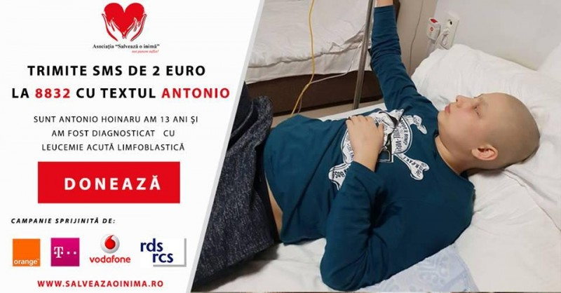 Antonio are nevoie de noi toți: DONEAZĂ pentru VIAȚA unui copil de 13 ani!