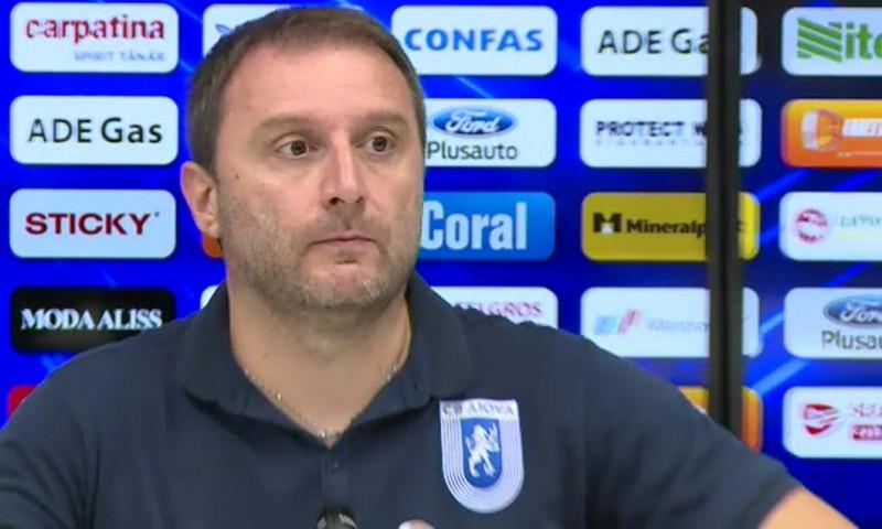 """Antrenorul Craiovei pune meciul de vineri seara sub semnul ghinionului: """"Nu am fost norocoşi. În partea a doua am fost ghinionişti la golul primit"""""""