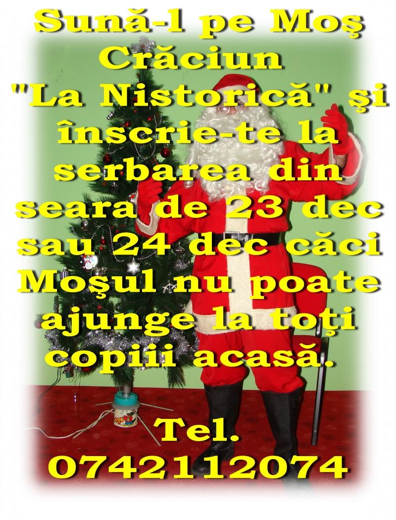 """Anul acesta, Moş Crăciun vine """"La Nistorică""""!"""
