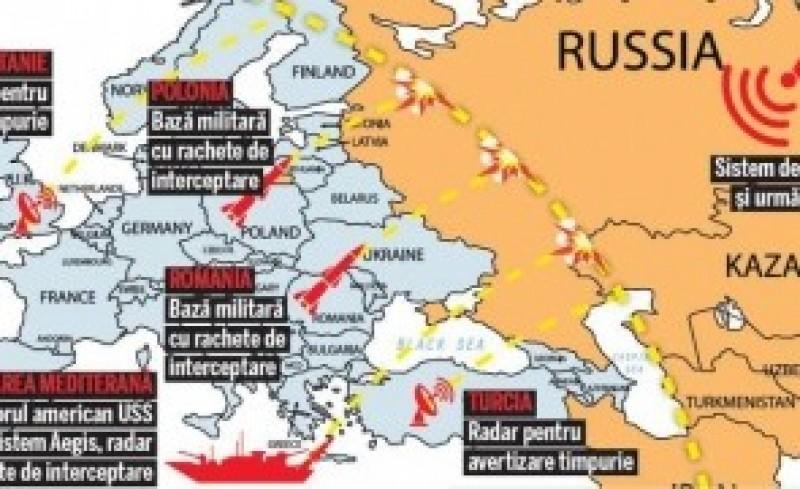 Anunțul care pune pe jar România - Rusia simulează bombardarea scutului antirachetă de la Deveselu