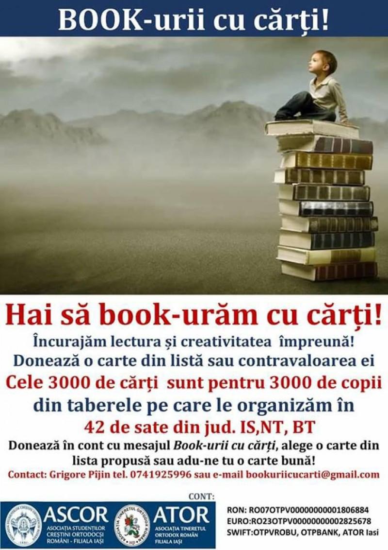 APEL: Ajutați-ne să book-urăm cu cărți!