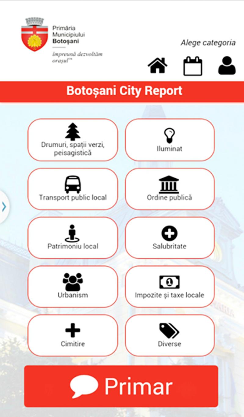 Aplicația Botoșani City Report, din nou funcțională