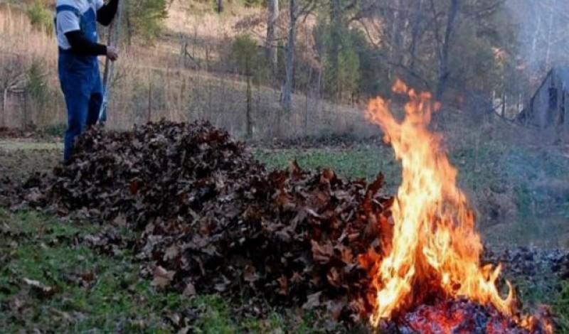 Arderea frunzelor în gospodărie, interzisă. Din februarie, amenzile pot ajunge până la 20.000 de lei