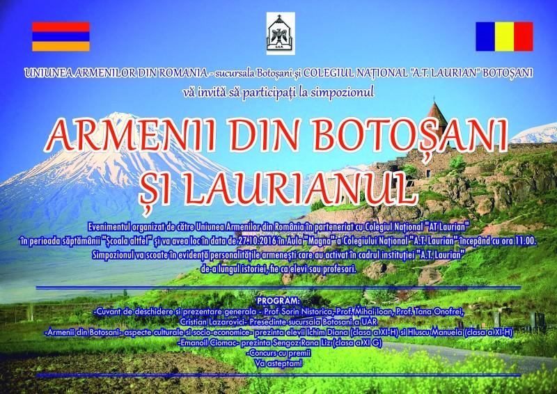 Armenii din Botosani si Laurianul