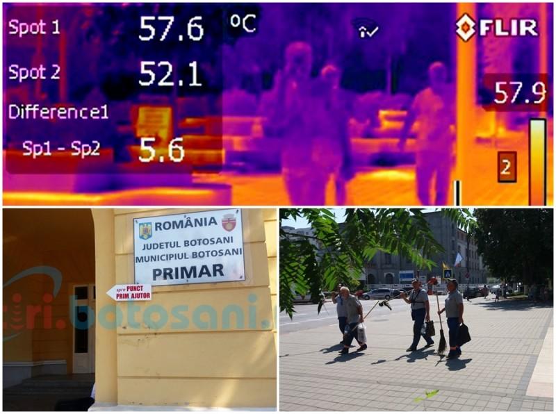 Arşiţa urbană, insuportabilă din cauza valului de caniculă! Experiment în mijlocul municipiului Botoşani FOTO- VIDEO