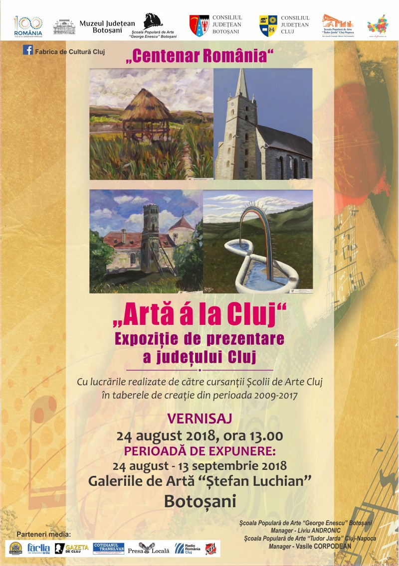 """""""Artă á la Cluj"""" - Expoziţie de prezentare a judeţului Cluj, în municipiul Botoşani"""