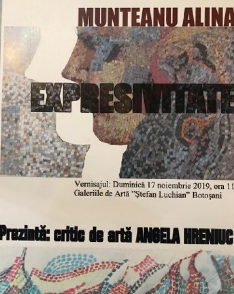 """Artista Alina Munteanu își conferă """"Expresivitatea"""" pereților din Galeriile botoșănene"""