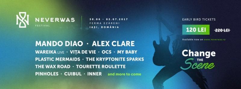 Artiști internaționali de calibru la Neverwas, festivalul de muzică ce va transforma Iașul!