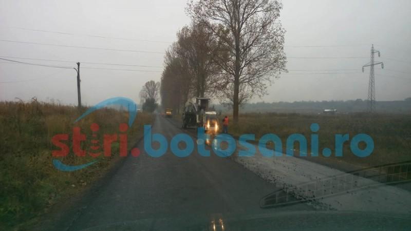 Asfaltare pe ploaie pe sectorul Botoşani- Roma. Explicaţiile autorităţilor! FOTO