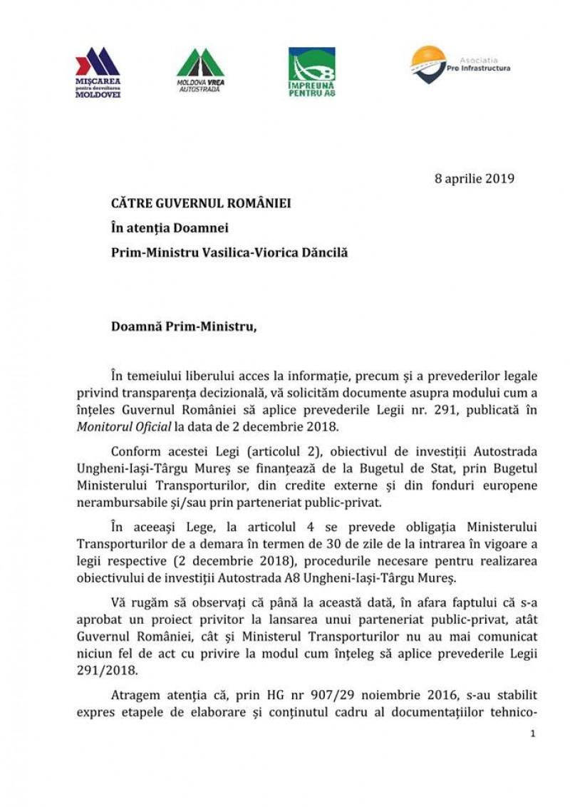 Asociațiile care luptă pentru autostrăzile Moldovei amenință Guvernul României cu trimiterea în judecată