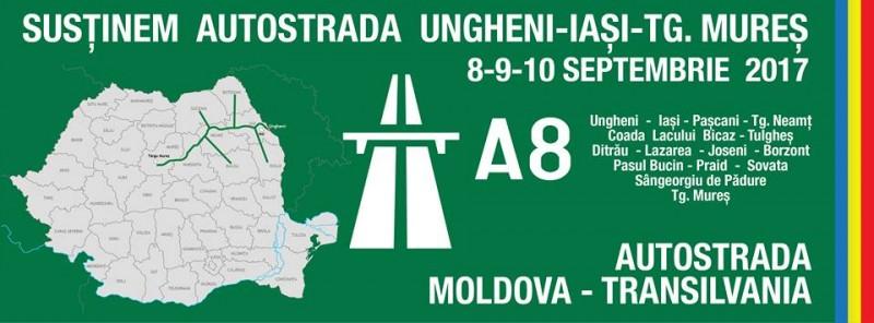 Astăzi a început marşul pentru autostrada Iaşi -Târgu Mureş! Se poate alătura oricine doreşte