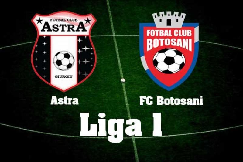 Astăzi: Astra- FC Botoşani