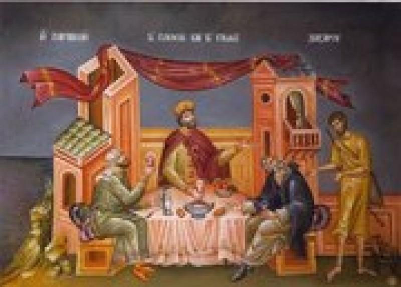 ASTAZI: Bogatul nemilostiv si saracul Lazar
