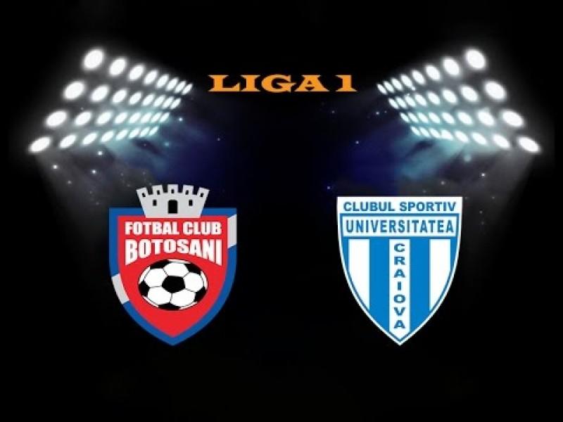 Astăzi: FC Botoşani- CSU Craiova