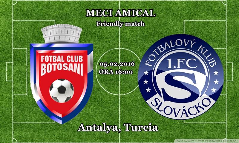 ASTAZI: FC Botosani joaca un nou meci amical, in Turcia!