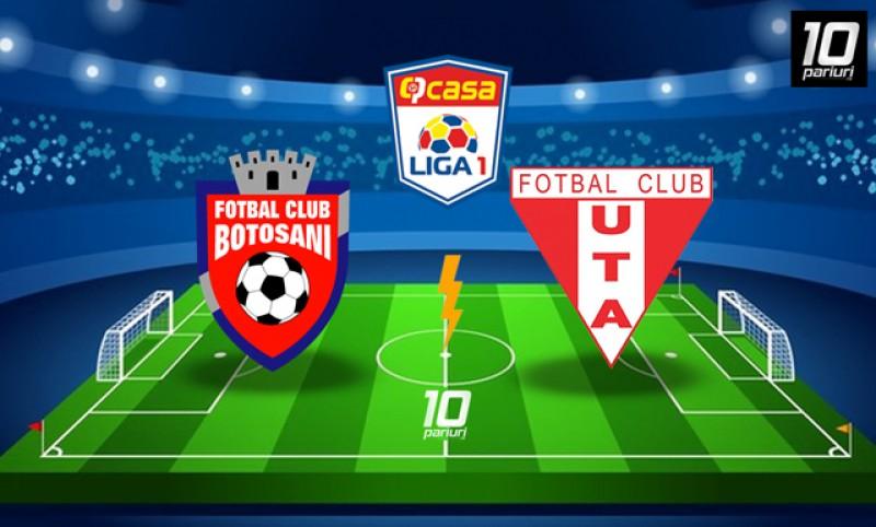 Astăzi: FC Botoşani - UTA Arad, ora 19.15