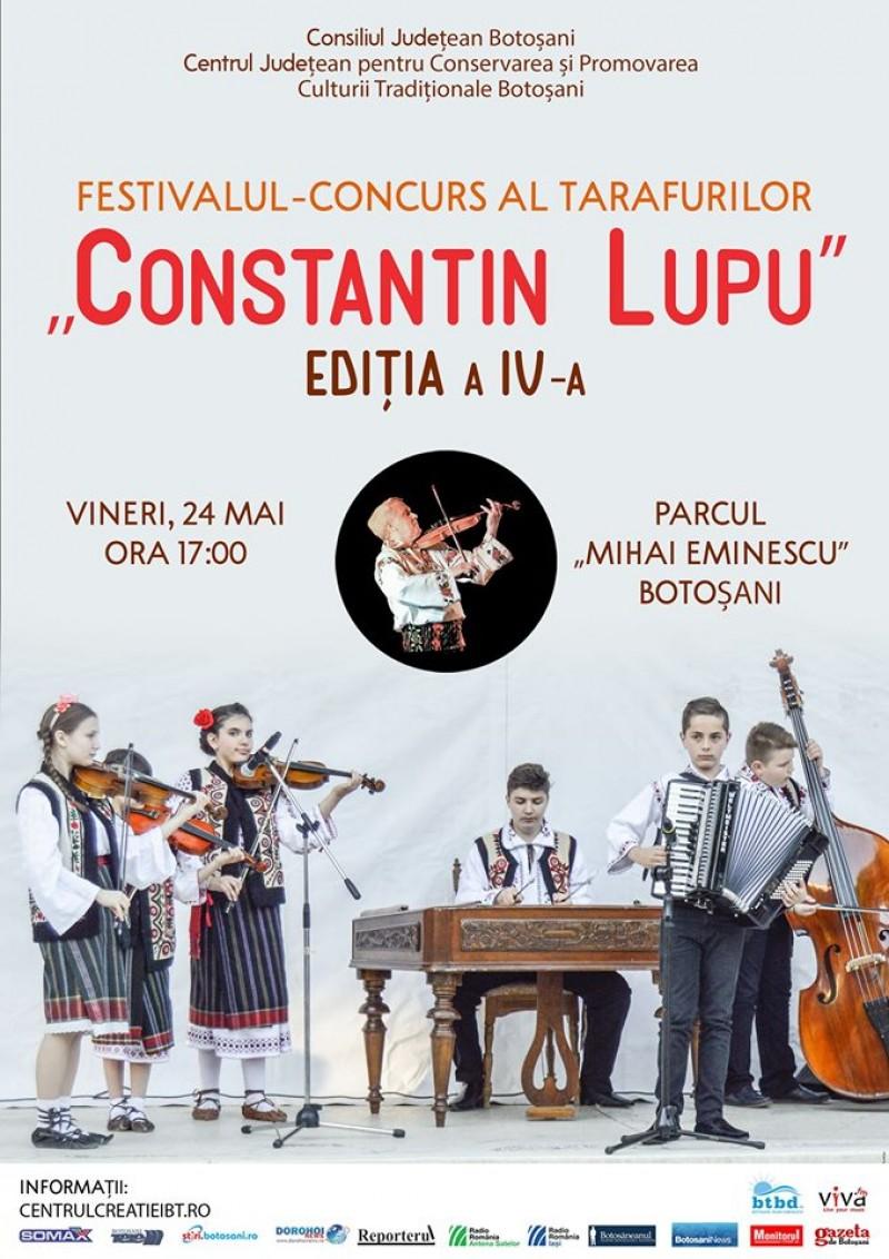 """ASTĂZI, în Parcul """"Mihai Eminescu"""": A patra ediție a Festivalului Tarafurilor """"Constantin Lupu"""""""