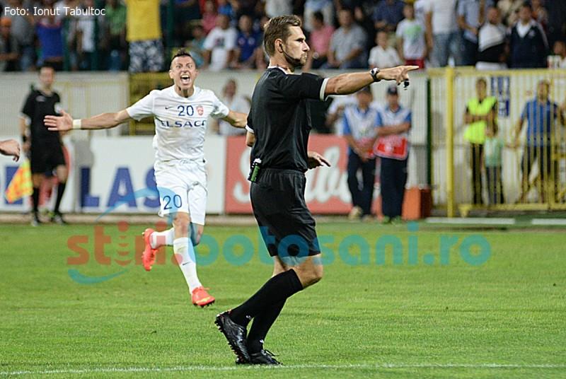 ASTAZI: Juventus Bucuresti - FC Botosani, cu un arbitru din capitala