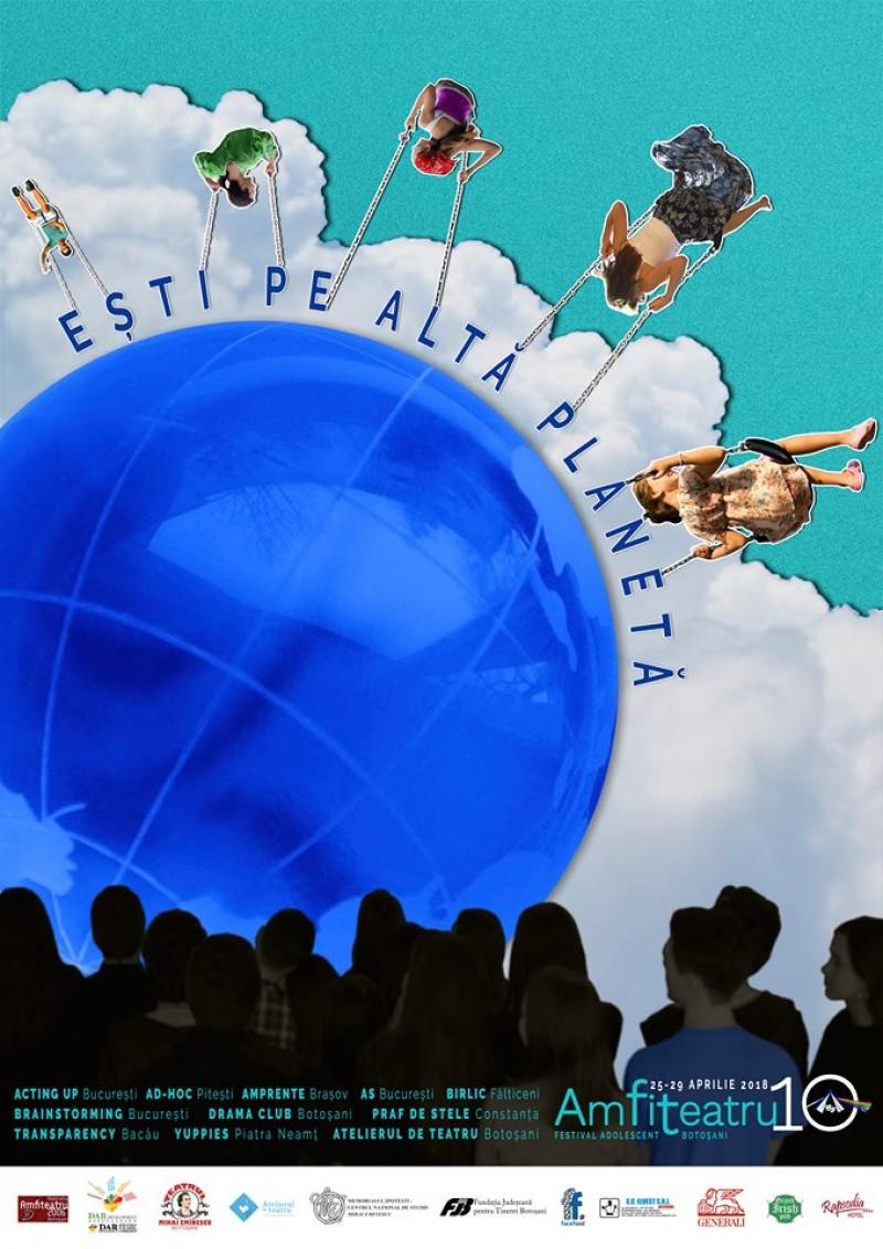 Astăzi, la Botoșani, începe Festivalul adolescent AmFiTeatru 10!
