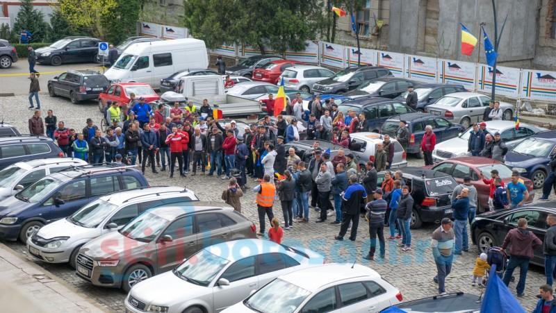 ASTĂZI: Protest cu zeci de mașini în municipiul Botoșani! FOTO VIDEO