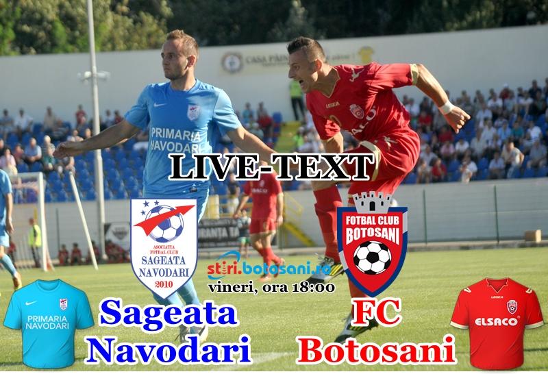 ASTAZI: Sageata Navodari - FC Botosani, ora 18:00! Vezi arbitrii delegati de CCA