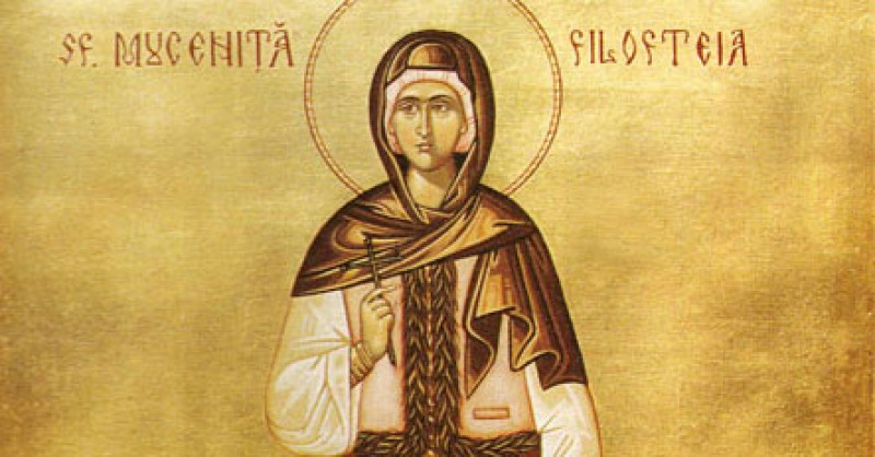 Astazi: Sfanta Filofteia, una dintre cele mai tinere sfinte din calendarul ortodox!