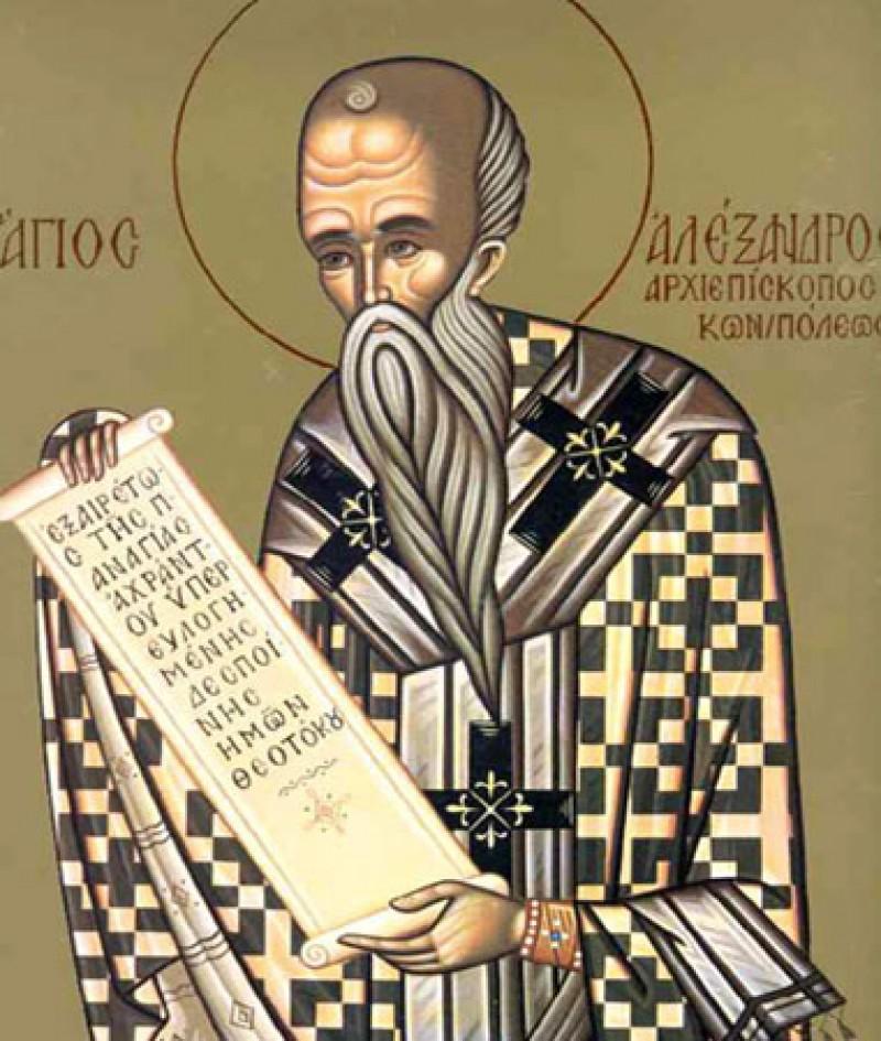 ASTAZI: Sfantul Alexandru