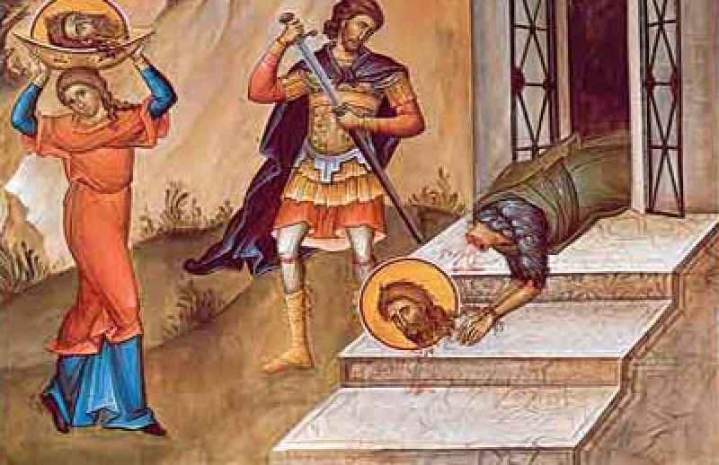 ASTAZI - Taierea capului Sfantului Ioan Botezatorul. Obiceiuri si traditii