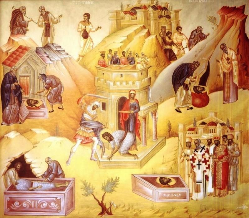 Astăzi, una din cele mai mari sărbători la români: Tăierea Capului Sfântului Ioan Botezătorul!