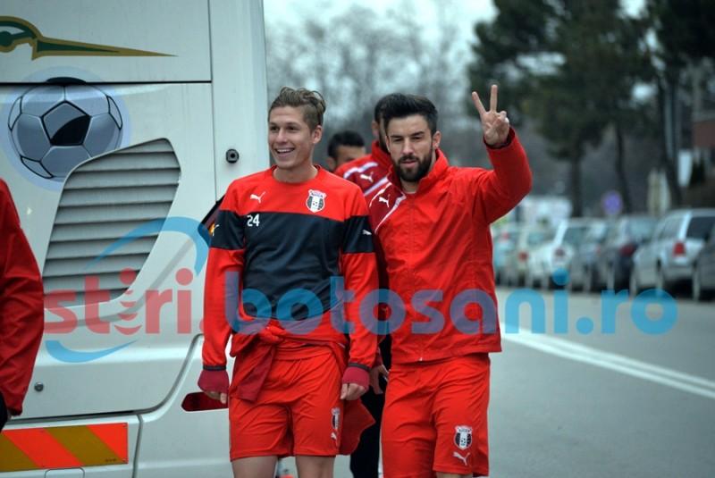 Astra a ajuns la Botosani! Gabriel Enache nu s-a antrenat! FOTO