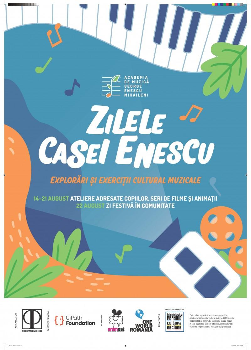 Ateliere educaționale la Casa lui Enescu din Mihăileni, la pachet cu nouă seri de film și un concert special