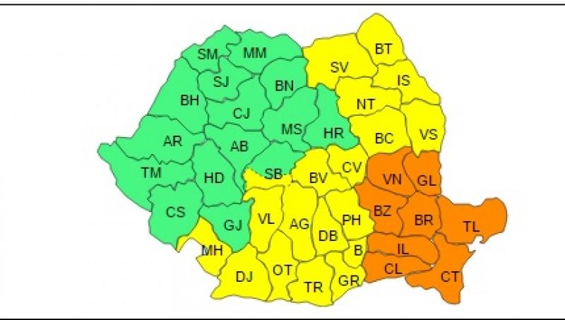 Atenționare de la meteorologi: Cod Galben pentru județul Botoșani!