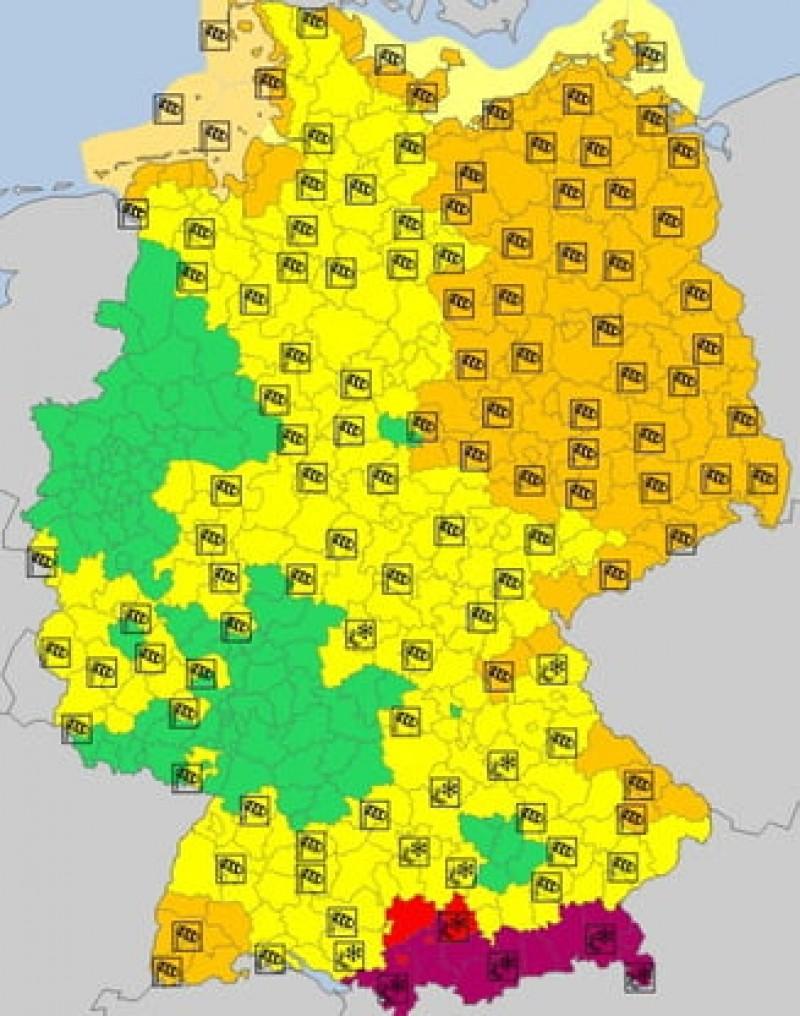 Atenționare meteo la cel mai ridicat nivel: Cod violet de vreme rea în Germania