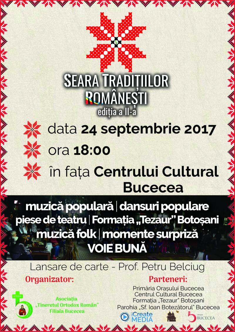 ATOR Bucecea vă invită la Seara Tradițiilor Românești