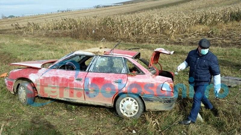 Au spart un magazin în județul Suceava, iar la întoarcerea spre casă s-au răsturnat cu mașina! Șoferul nu avea permis și era băut! FOTO