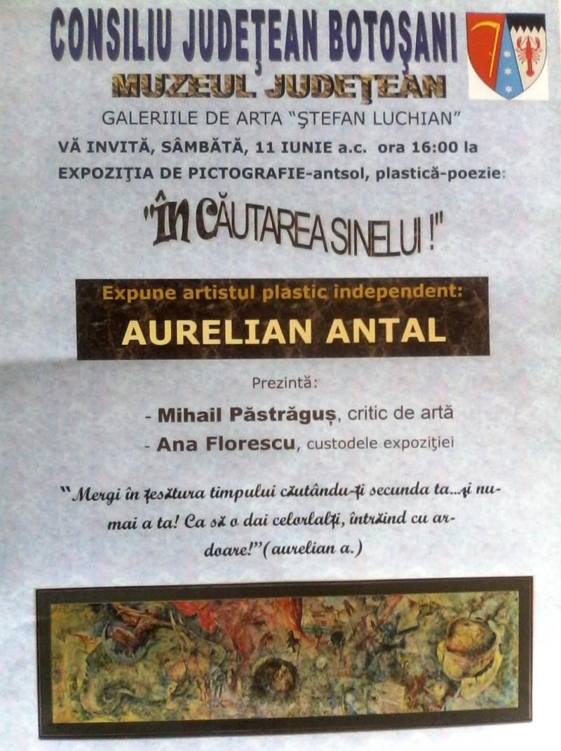 """Aurelian Antal, """"În căutarea sinelui"""" la Galeriile """"Ştefan Luchian"""""""