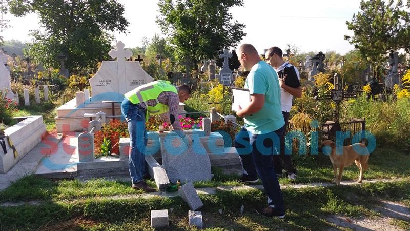 Autorii distrugerilor şi profanărilor din Cimitirul Eternitatea au fost identificaţi şi reţinuţi!