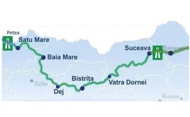 """""""Autostrada Nordului"""" a primit finanțare și a semnat contractele pentru studiile de fezabilitate pe traseul Suceava - Vatra Dornei – Bistrița"""