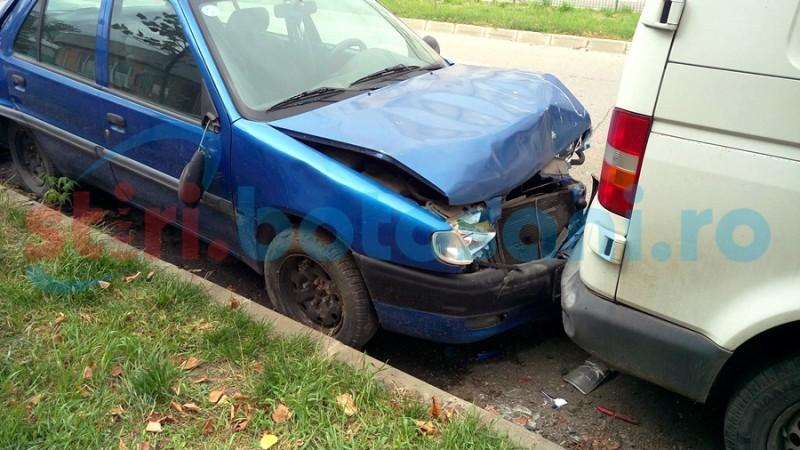 Autoturisme avariate de un șofer aflat la un pas de comă alcoolică!
